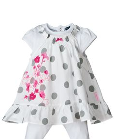 Ensemble robe et t-shirt bébé fille
