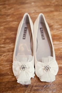 White by Vera Wang ballet flats Changing into these babies for the reception!! Cant wait!!!!!! :D they have them in black too for the bridesmaids!