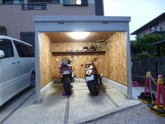 Motorcycle Garage, Cabins, Motorbikes, Shed, Home, Blue Prints, Motorbike Shed, Lean To Shed, House