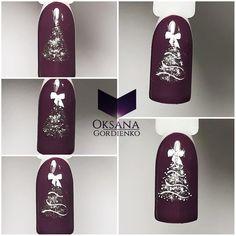 Step by Step Manicure … - Nail Designs Nail Art Noel, Xmas Nail Art, Christmas Nail Art Designs, Holiday Nail Art, Xmas Nails, New Year's Nails, Winter Nail Art, Christmas Nails, Winter Christmas