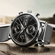 The Portofino Chronograph brings a sporty touch to the Portofino family. The striking push-buttons are reminiscent of the cockpit of 1960s Italian sports cars. The watch, which features a convex sapphire glass and appliquéd Roman numerals, is driven by the time-tested automatic 75320 calibre with its 44-hour power reserve.  Mechanical chronograph movement Self-winding 44-hour power reserve when fully wound Day and date display Stopwatch function with hours minutes and seconds Small hacking…