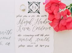 classic wedding invitation - photo by Savan Photography http://ruffledblog.com/bougainvillea-inspired-wedding-ideas