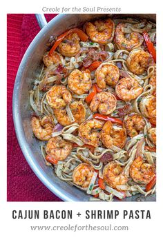 This shrimp and bacon pasta recipe is fresh, full of flavor, and low carb!