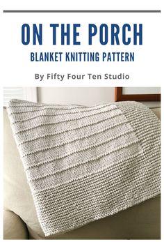 Easy Blanket Knitting Patterns, Easy Knit Baby Blanket, Beginner Knitting Patterns, Knitted Afghans, Knitted Baby Blankets, Knitting For Beginners, Knitted Blankets, Knitting Projects, Toddler Blanket