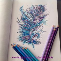Feather fantasy doodle by Roan