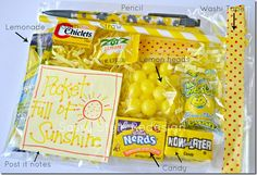 a pocket full of sunshine gift basket... TOO cute