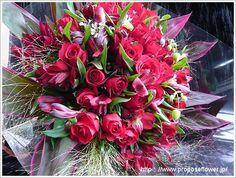 プロポーズフラワー花束写真ギャラリー 【ドイツマイスターのデザインフラワー】 赤い薔薇の花束