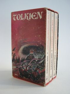 The Lord of the Rings, Paperback Book Boxset from 1972; 3 volumes in Barabara Remmington Slipcase