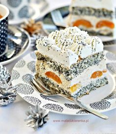 """Cake """"Poppy Lady"""" with apricots and nuts - Little Confectionery Unique Desserts, Köstliche Desserts, Delicious Desserts, Dessert Recipes, Yummy Food, Caking It Up, Vegan Christmas, Polish Recipes, Let Them Eat Cake"""