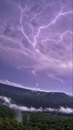 #sky #lightning #violet