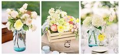 shabby chic  purple centerpieces   In looking for shabby chic centerpiece ideas I stumbled across a sweet