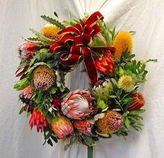 Wreath of proteas