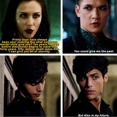 aw, Magnus, you're such a romantic~ (ღ˘⌣˘ღ)   Malec is so precious!!! σ(≧ε≦σ) ♡