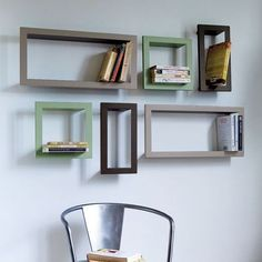 Metal CD, DVD or Bookshelves - contemporary - wall shelves - Graham and Green Wooden Wall Shelves, Metal Shelves, Floating Shelves, Dvd Shelves, Floating Frame, Contemporary Bookcase, Modern Bookshelf, Hippy Room, Frame Shelf