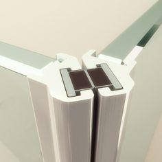 • Juntas verticales de estanqueidad magnéticas insertadas en finos perfiles de aluminio cromado. Tel: 937... CERCA DE BADALONA.