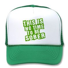 Funny St Patricks Day Drinking Humor Mesh Hat from Zazzle.com  @Chelsea Stirling