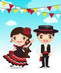 niñas vestidas de bailadoras de flamenco - Buscar con Google