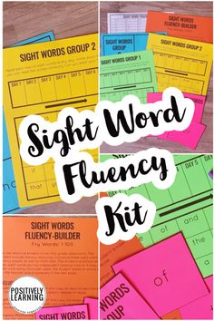 An all-in-one sight word kit to practice and track sight word fluency! 20 weeks that can move at any pace for your students. Based on Fry Words 1-100.