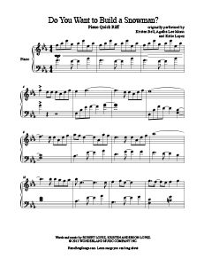 Do You Want to Build a Snowman? - Frozen soundtrack. Tons of free piano sheet music at www.PianoBragSongs.com.