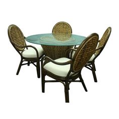 Fairwinds SD Round Dining Table measures x Sunroom Dining, Wicker Dining Set, Wicker Chairs, Dining Arm Chair, Round Dining Table, Resin Wicker Furniture, Dining Furniture, Custom Furniture, Furniture Making