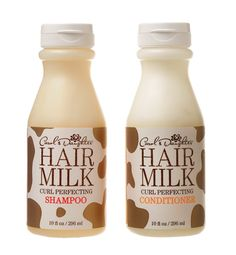 Milky Way  Carol's Daughter's nourishing Hair Milk Shampoo and Conditioner—made lovingly in California—are packed with vitamins and emollients.