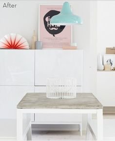Ikea table with different table top