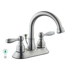 Glacier Bay Mandouri 4 in. 2-Handle High Arc Bathroom Faucet in Brushed Nickel - - Amazon.com
