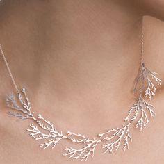 Filament Necklace - Nervous System: Sterling Silver or 24K Gold Plated.