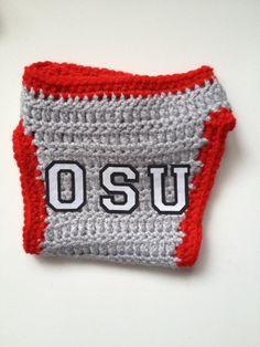 OSU Ohio State University Crochet Baby Diaper Cover on Etsy, $10.00