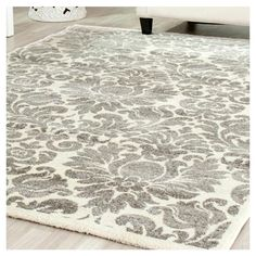 Anchor your living room seating group or define space in the den with this lovely rug, featuring a damask motif. My Living Room, Home And Living, Living Room Decor, Bedroom Decor, Bedroom Rugs, Master Bedroom, Diy Home, Home Decor, Piece A Vivre