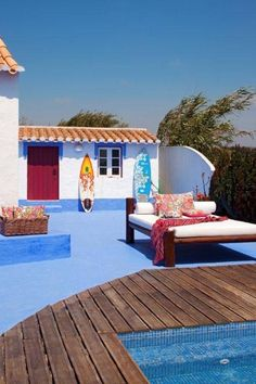 Outside Living, Outdoor Living, Outdoor Spaces, Outdoor Decor, Mexican Style Decor, Relax House, Surfboard Decor, Spanish Style Homes, Beautiful Places To Visit