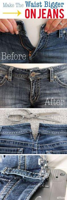 How to Make the Waist Bigger on Jeans. Vestiti Di Diy RefashionAbiti ... 336675db36c