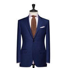 Tailored 2-Piece Suit – Fabric 4590 Plain Blue Cloth weight: 240g Composition: 100% Wool