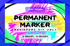 Permanent Marker Kit Vol.1: THE DEMO by Rachel Irving on @creativemarket