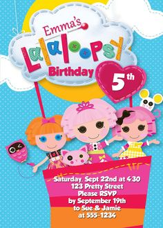 Lalaloopsy Invite by MyCreativeShoppe on Etsy, $5.00