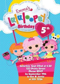 Lalaloopsy Invite by MyCreativeShoppe on Etsy, $5.00