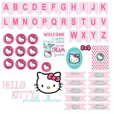 Hello Kitty Printable Party Collection  Pink by bigKlittlekdesigns, $15.00
