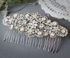 LILYBETH Victorian SWAROVSKI Crystal Flower by GlamorousBijoux, $92.00 >>  Beautiful hair accesorie