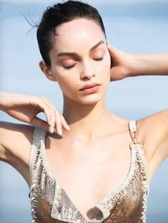 """Luma Grothe in """"Pêche Miraculeuse"""" for L'Express Styles June 2016 Photographed by Alex Caley Fashion Photo, Love Fashion, Luma Grothe, Editorial, Vogue Spain, Mario Testino, Exotic Beauties, Linda Evangelista"""