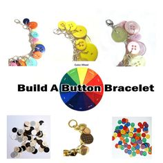 Summer Jewelry Bracelet Button Charms Build A by LovesParisStudio, $30.00