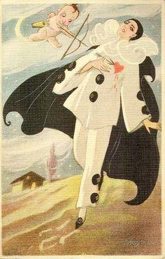 scrapologie : Vintage Images - Pierrot, Columbine & Harlequin