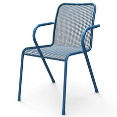 MWH stapelstoel Lopo blauw/beige/geel/grijs