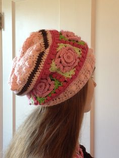 The Granny Rose Slouchy Hat