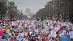 Allein in Washington waren es laut Veranstaltern eine halbe Million Menschen -...