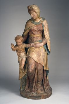 Sansovino, Jacopo (attributed to) | Madonna and Child ca. 1540 -  Polychromed terracotta