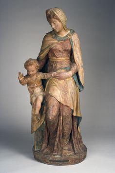 Sansovino, Jacopo (attributed to) | Madonna and Child ca. 1540 - Polychromed terracotta