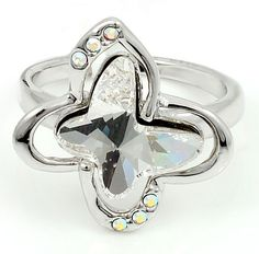 Swarovski Ring, Rockin' Butterfly, Clear Crystal