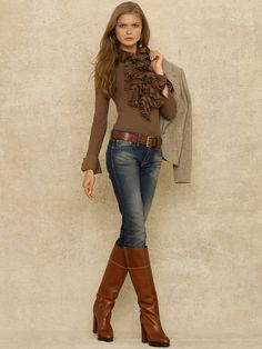 RL 2012 jeans brown boots | Flickr - Photo Sharing!