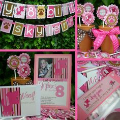 Pink Puppy Party - Custom Party Package. $109.50, via Etsy.