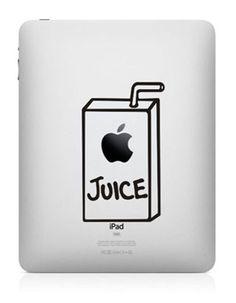 Juice box--iPad sticker iPad decals iPad skin decals iPad cover Apple vinyl Decals for iPad1 / iPad2 / iPad 3
